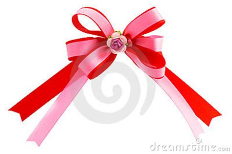 double loops ribbon bow royalty  stock images image