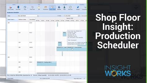 production scheduler shop floor insight youtube