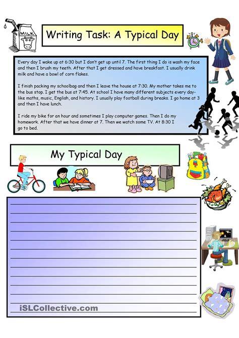 creative writing daily routines   level ensino de