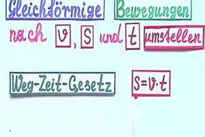 Bremsweg Berechnen : video v s t umstellen so rechnen sie mit der formel f r gleichf rmige bewegungen ~ Themetempest.com Abrechnung
