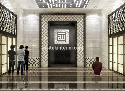 jasa desain interior mesjid minimalis ukuran bangunan