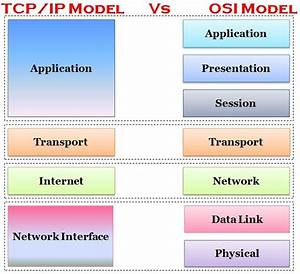 Difference Between Tcp  Ip And Osi Model  With Comparison