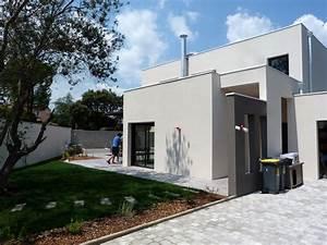 atelier d39architecture banegas villas villa 450 With maison avec escalier exterieur 7 pergola creation terrasse en bois sur cambrai saint