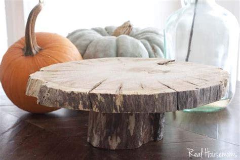 diy wood slice cake serving pedestal real housemoms