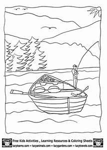 Lake Coloring Sheet | Coloring for Kids | Pinterest
