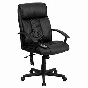 A, Line, Furniture, Comfy, Massaging, Black, Leather, Executive, Adjustable, Swivel, Office, Chair