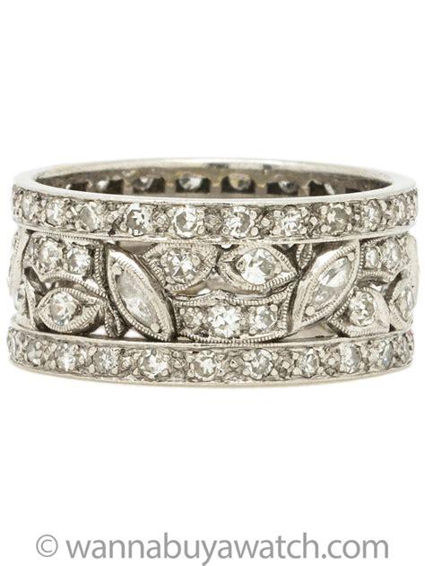 wanna buy   wide platinum diamond wedding band