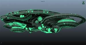 Spaceship over Madrid // o[>_