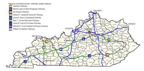 map  kentucky map highways worldofmapsnet