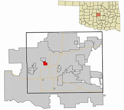 Oklahoma Areas Highlighted Incorporated Nichols Unincorporated Hills