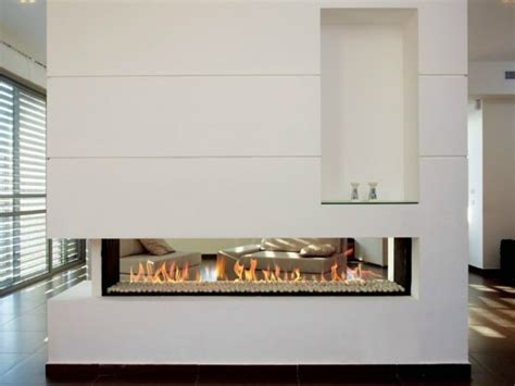 Two Sided Fireplace Insert by Camini Double Face A Doppia Apertura