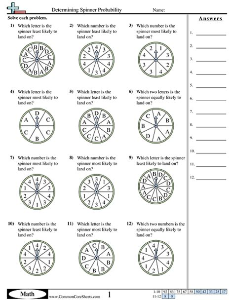 Probability Worksheets  Free Commoncoresheets