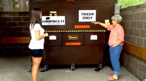 tutorial operating  vertical commercial compactor  compact  youtube
