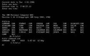 Microsoft DOS Operating System