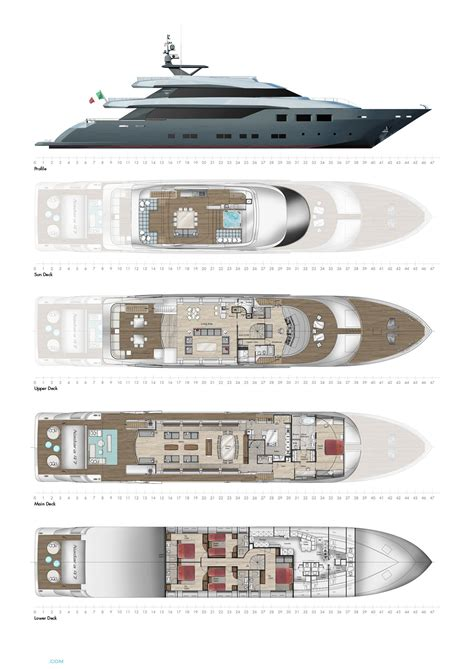 Yacht Plans by Nadara 47 Yacht For Sale Layout Tecnomar Superyachts