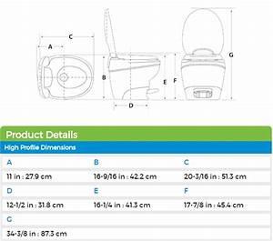 Thetford 31100 Bravura High Profile Rv Toilet With Water