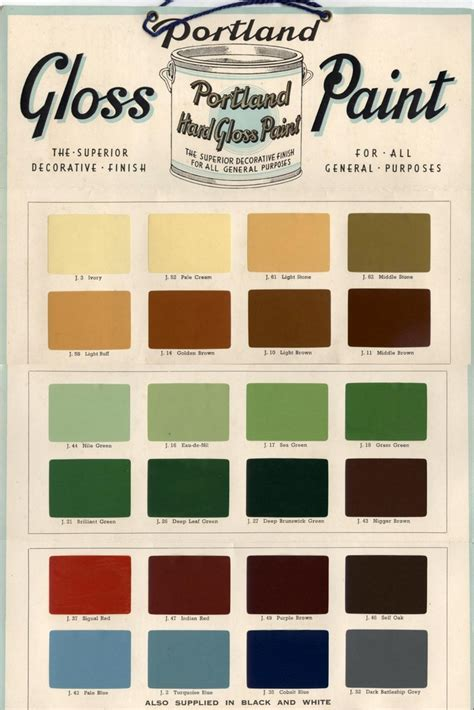 9 best vintage paint colour color charts images on