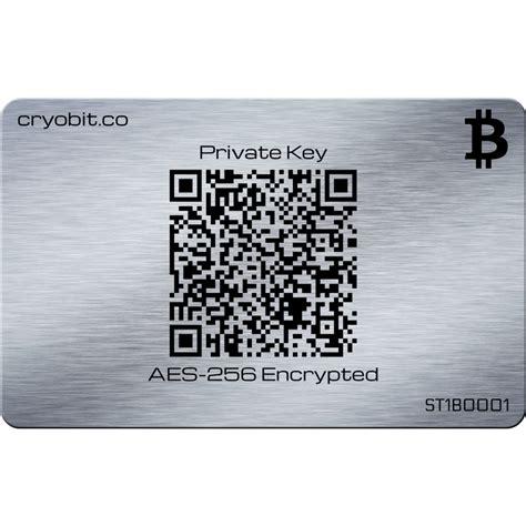 cryo cartao aco inoxidavel bitcoin cold storage