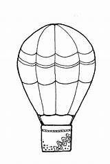 Balloon Coloring Air Colouring Basket Decorated Template Printable Outline Detailed Getdrawings Sky Templates Getcolorings sketch template