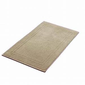 tapis de bain taupe 50x80 cm 900gr m2 la compagnie du blanc With tapis de bain taupe