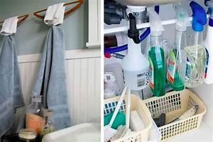 Astuce Rangement Cuisine Pas Cher : si vous avez une petite salle de bain ces 17 astuces de rangement sont faites pour vous ~ Melissatoandfro.com Idées de Décoration