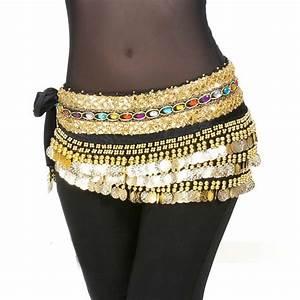 2017 248 coin Double strand Diamond Belly Dance Belt ...