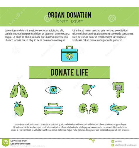 organ donation template stock vector illustration