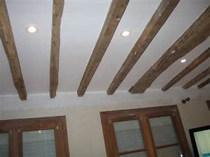 Enduit De Lissage Au Rouleau Pour Plafond : enl vement faux plafond poutres apparentes fermacell ~ Premium-room.com Idées de Décoration