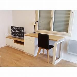 Meuble Tv Beige : ensemble bureau meuble t l pur beige meubles jamet ~ Teatrodelosmanantiales.com Idées de Décoration