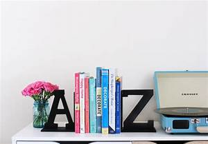 Easy Diy  A To Z Bookends