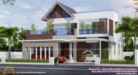 4 bedroom attached modern home design - Kerala home design