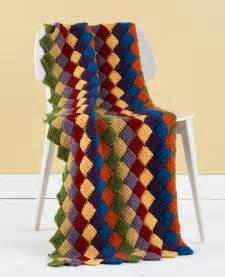 Free Tunisian Crochet Entrelac Throw Pattern