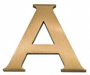 2 inch copperplate cast metal sign letter bl2b002 With 2 metal letters