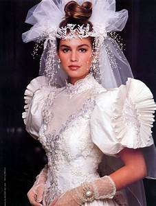 cindy crawford in white 80s and 90s wedding dresses With cindy crawford wedding dress