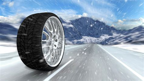 art automotive wheel winter tyre bus cast  disc rolling  road counting mountain snow