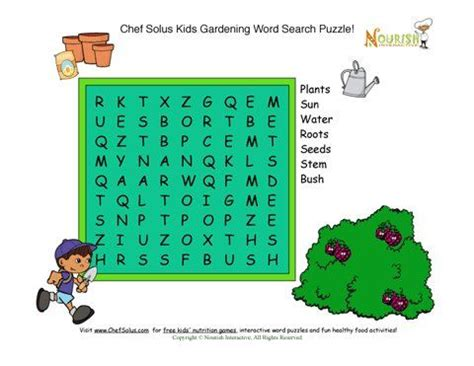 word from letters garden word search puzzle gardening with 25687