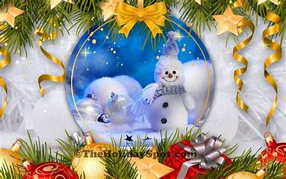 Christmas Wallpapers Desktop Background Snowman Pc Build