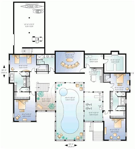 awesome floor plans  homes  pools  home plans