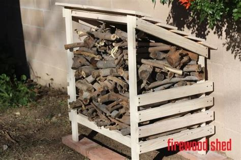 White Wood Shed Plans by Firewood Storage Hutch Shed Easy Free Plans Covered Wood