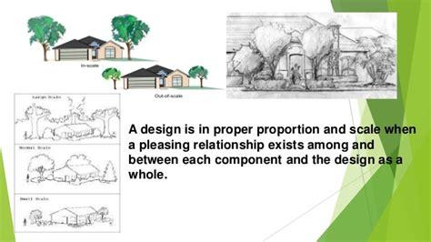 scale in landscape design principle of landscape design