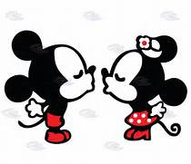 Home Page Shops Marrie...Mickey Mouse And Minnie Kissing