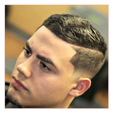 Men Short Hair Hairstyles with Low Fade Hard Part Short
