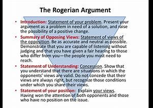 good topics for a rogerian argument paper