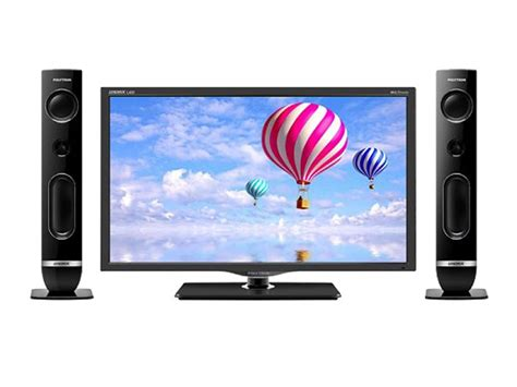 electronic city polytron led tv with tower speaker black