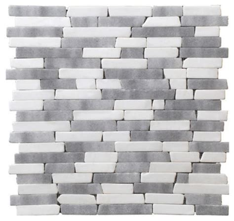 Peel N Stick Tile by Stoneskin Peel N Stick Random Mosaic White Gray Mix
