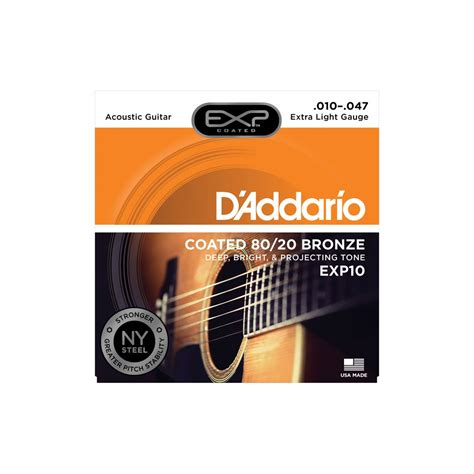 d addario extended play exp10 80 20 bronze acoustic guitar