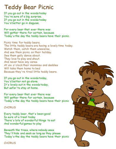 teddy bear songs preschool teddy crafts on panda crafts picnic 336