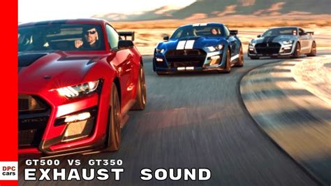 Gt500 Vs Gt350 by Mustang Shelby Gt500 Vs Gt350 Exhaust Sound