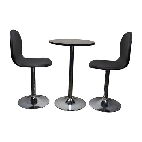 79 Off Target Target Cafe Table And Leather Chairs Tables