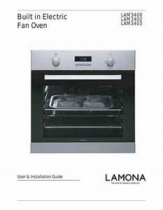 Lamona Single Fan Oven - Lam3400 Manuals